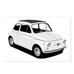 White Fiat 500 Postcards (Package of 8)