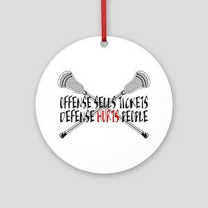 Lacrosse Defense Hurts Ornament (Round)