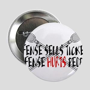 "Lacrosse Defense Hurts 2.25"" Button"