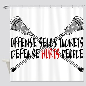 Lacrosse Defense Hurts Shower Curtain