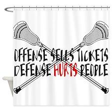Lacrosse Defense Hurts Shower Curtain