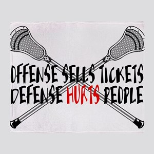 Lacrosse Defense Hurts Throw Blanket