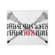 Lacrosse Defense Hurts Throw Blanket