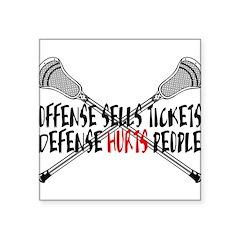 Lacrosse Defense Hurts Square Sticker 3