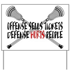 Lacrosse Defense Hurts Yard Sign