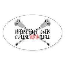 Lacrosse Defense Hurts Sticker (Oval)