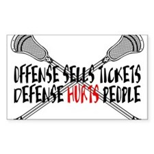 Lacrosse Defense Hurts Sticker (Rectangle)