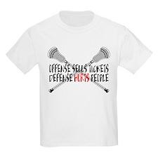 Lacrosse Defense Hurts Kids Light T-Shirt