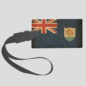 Vintage Anguilla Flag Large Luggage Tag