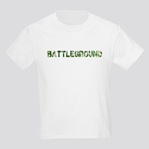Battleground, Vintage Camo, Kids Light T-Shirt