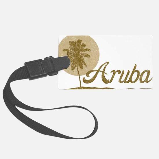 Palm Tree Aruba Large Luggage Tag