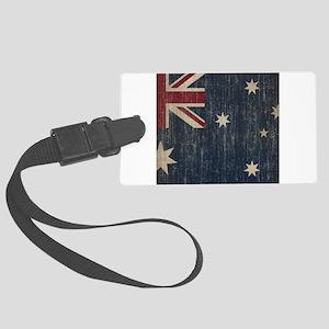 Vintage Australia Flag Large Luggage Tag