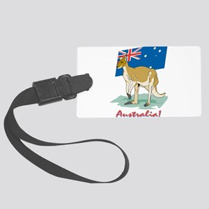 Australia Kangaroo Large Luggage Tag
