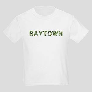 Baytown, Vintage Camo, Kids Light T-Shirt