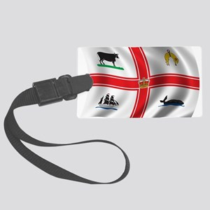 Wavy Melbourne Flag Large Luggage Tag