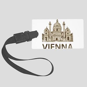 Vintage Vienna Large Luggage Tag