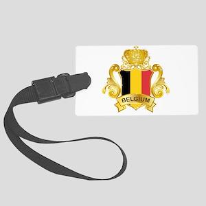 Gold Belgium Large Luggage Tag