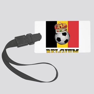 Belgium Football Large Luggage Tag