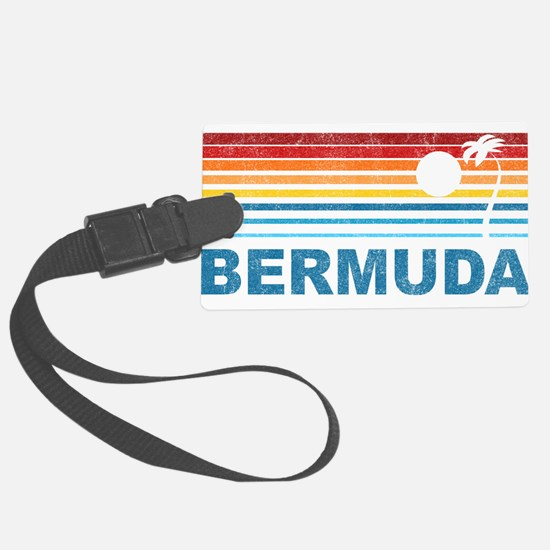 Palm Tree Bermuda Luggage Tag