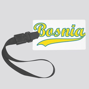 Retro Bosnia Large Luggage Tag