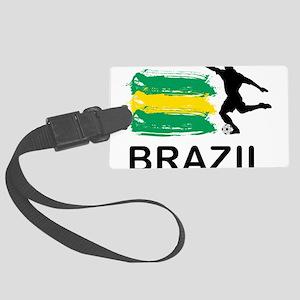 Brazil Football Large Luggage Tag