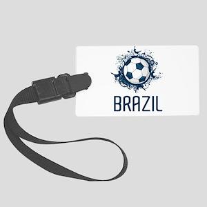 Hip Brazil Football Large Luggage Tag