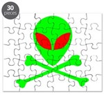 Alien Skull and Bones Puzzle