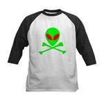 Alien Skull and Bones Kids Baseball Jersey