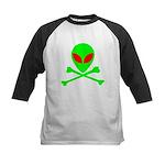 Alien Skull and Bones Kids Baseball Jersey