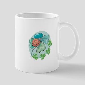 LadyBug on Four-Leafed Clover Mug