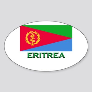 Eritrea Flag Stuff Oval Sticker