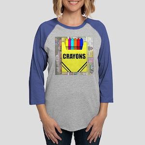 T-SHIRT CRAYONS TB Womens Baseball Tee