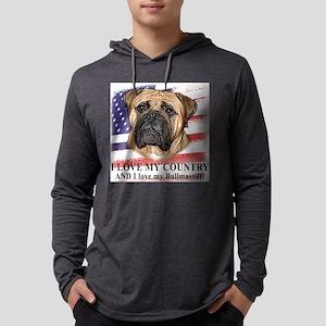 love_bullmastiff_flag Mens Hooded Shirt