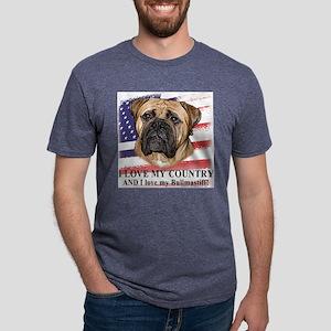 love_bullmastiff_flag Mens Tri-blend T-Shirt
