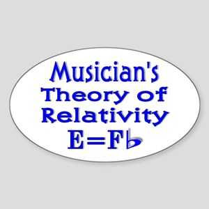 Music Theory Teacher 2 Oval Sticker