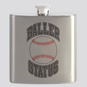 Baseball Baller Status Flask