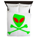 Alien Skull and Bones Queen Duvet