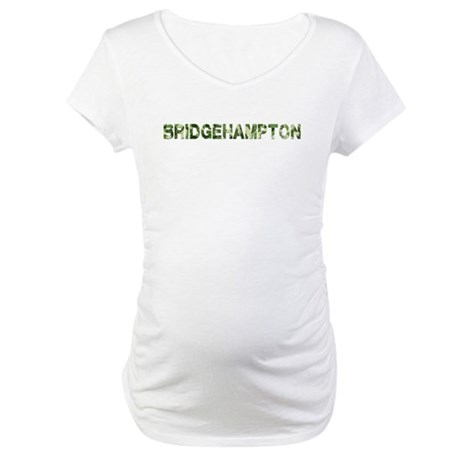 Bridgehampton, Vintage Camo, Maternity T-Shirt