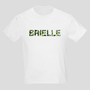Brielle, Vintage Camo, Kids Light T-Shirt