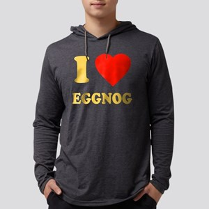 I Love Eggnog Mens Hooded Shirt