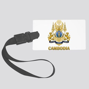 Cambodia Coat Of Arms Large Luggage Tag