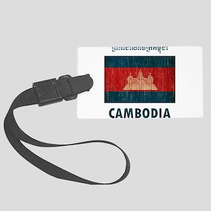 Vintage Cambodia Large Luggage Tag
