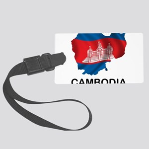 Map Of Cambodia Large Luggage Tag