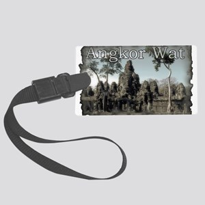 Vintage Angkor Wat Large Luggage Tag