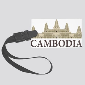 Cambodia Angkor Wat Large Luggage Tag