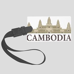 Cambodia Angkor Wat Large Luggage Tag