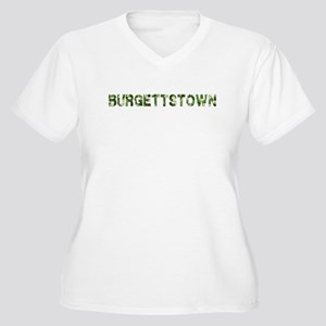 Burgettstown, Vintage Camo, Women's Plus Size V-Ne