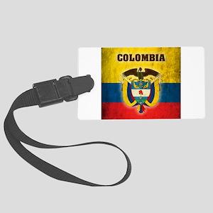 Vintage Colombia Large Luggage Tag