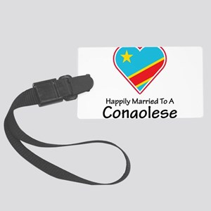 Happily Married Congolese Large Luggage Tag
