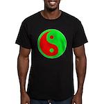 Alien Yin-Yang Men's Fitted T-Shirt (dark)